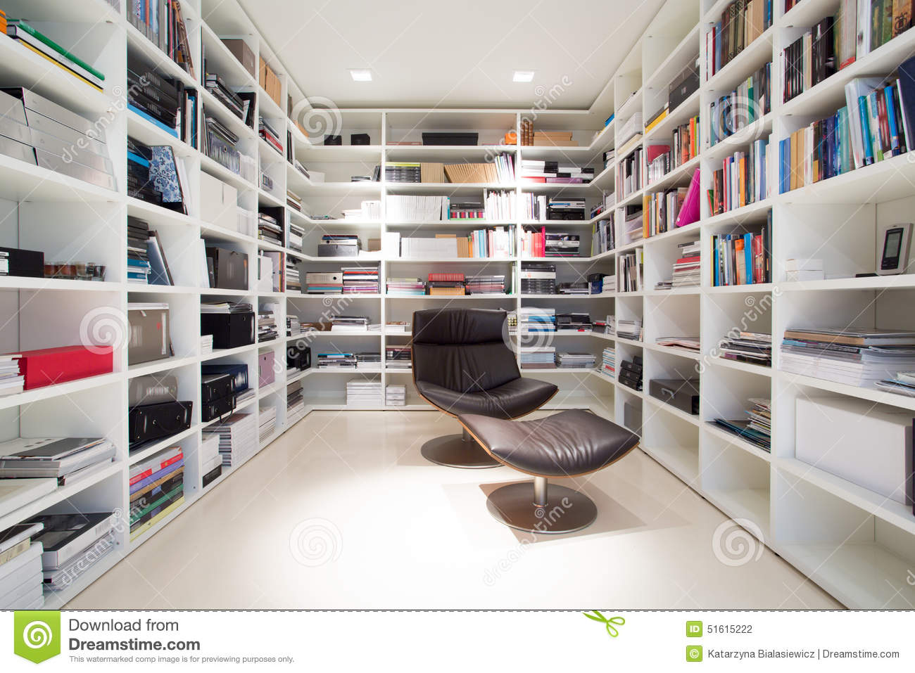 Private Library At Home Stock Photo Image 51615222