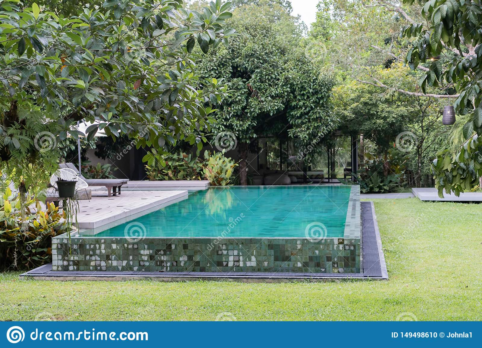 Private Swimming Pool In Hidden Forest Resort Stock Photo Image Of Famous Colorful 149498610