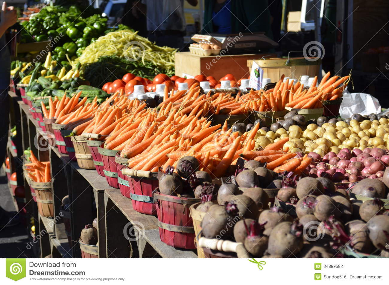 Produce For Sale Stock Photography
