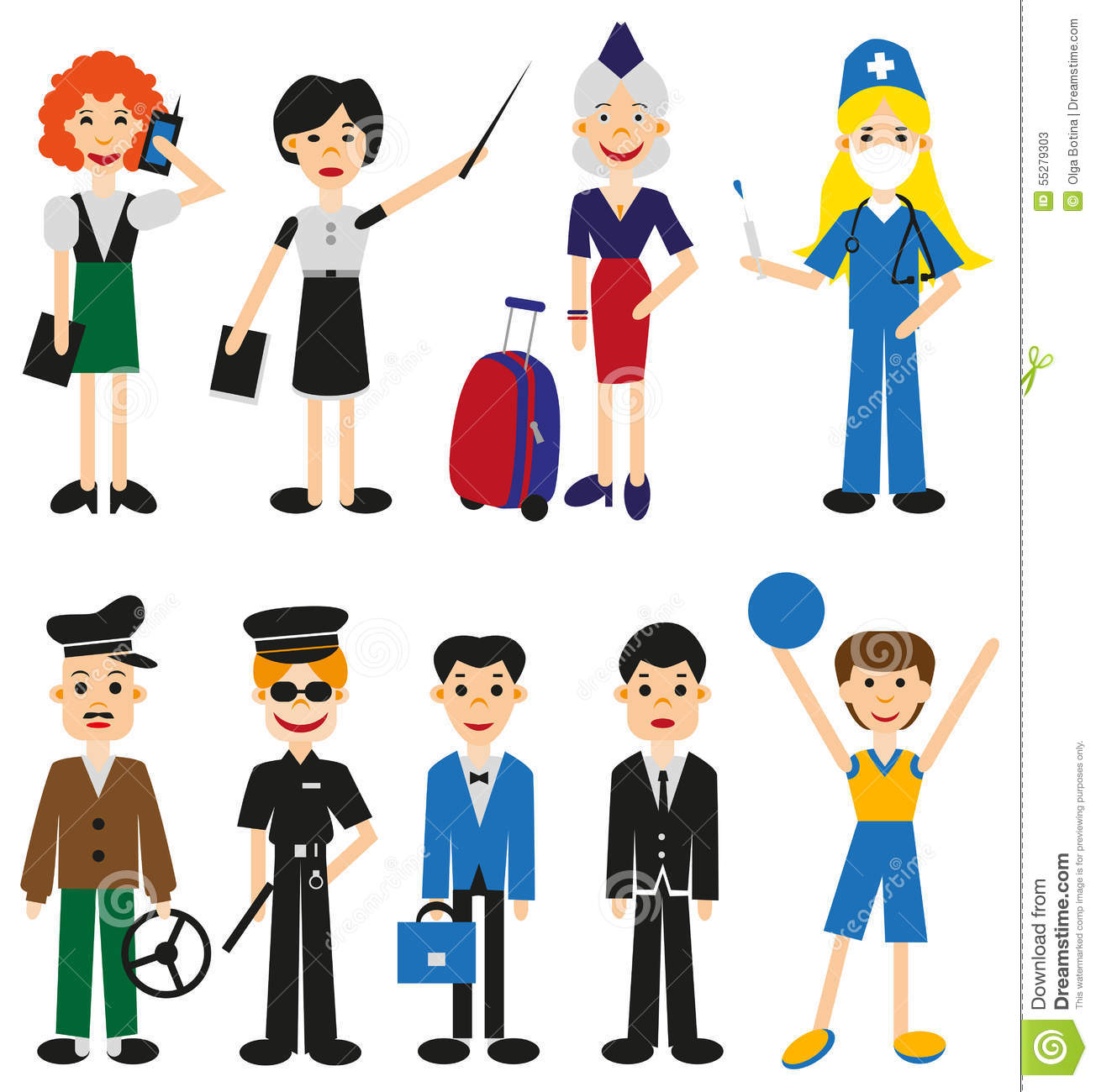 Profession People Stock Vector Illustration Of