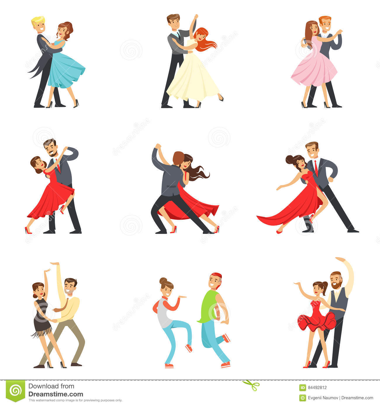 Waltz cartoons illustrations vector stock images 1160, cute love coloring pages