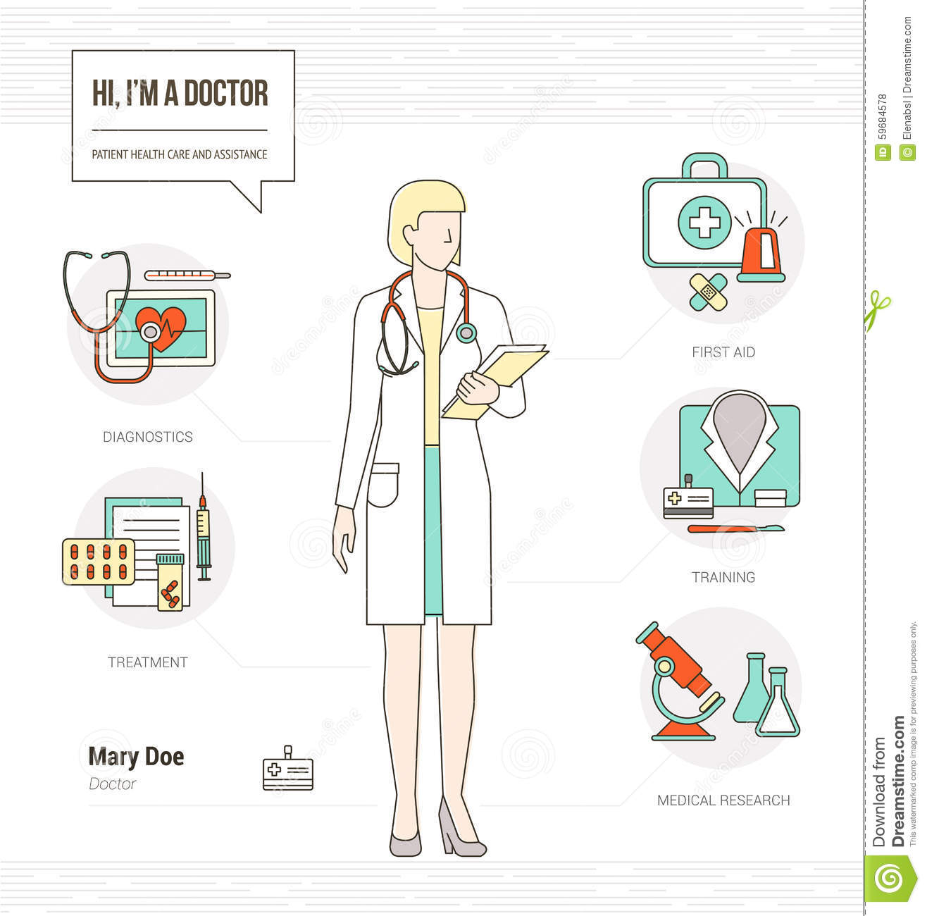 Professional Doctor Stock Vector
