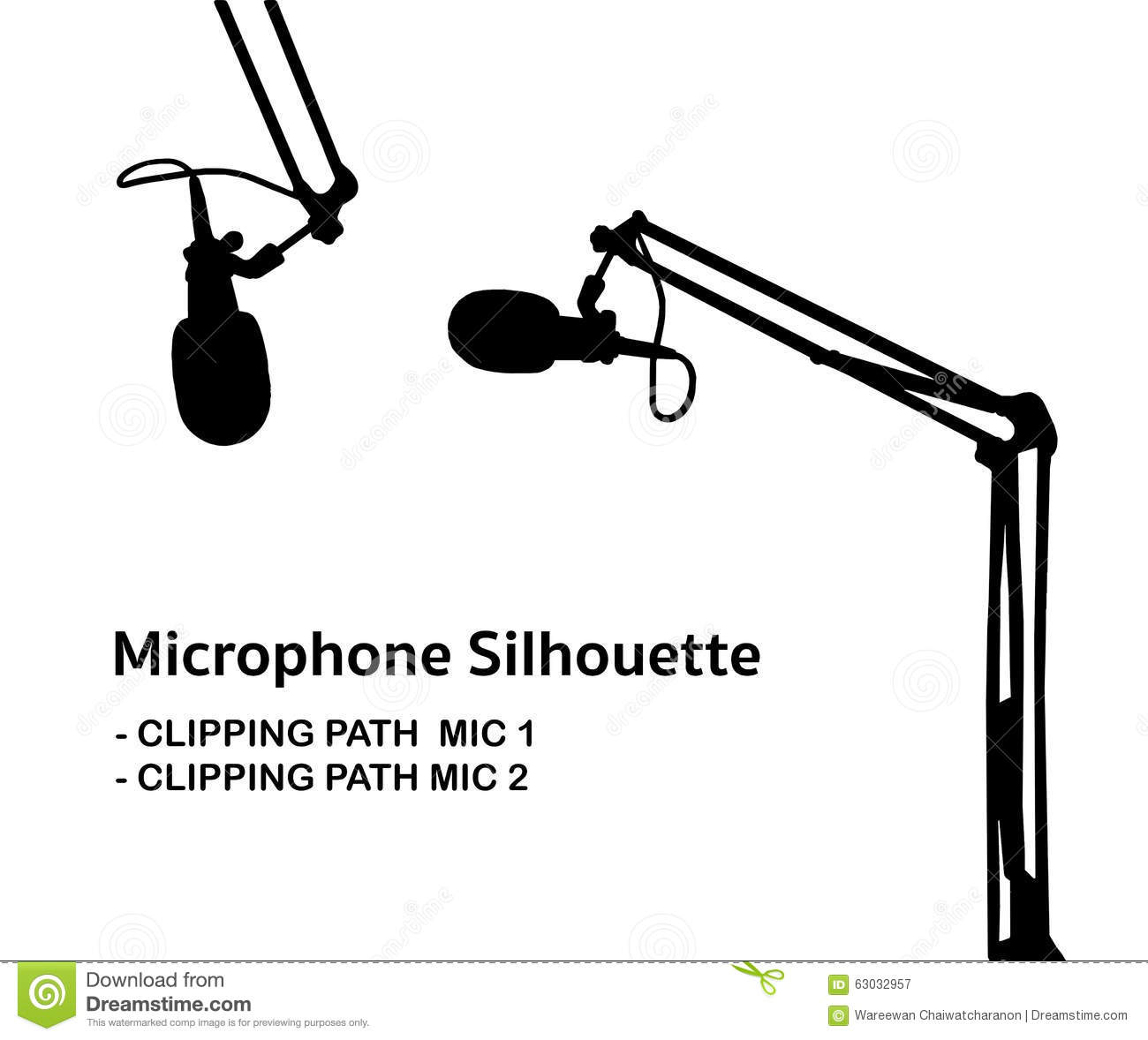 Professional Studio Microphone Silhouette Stock