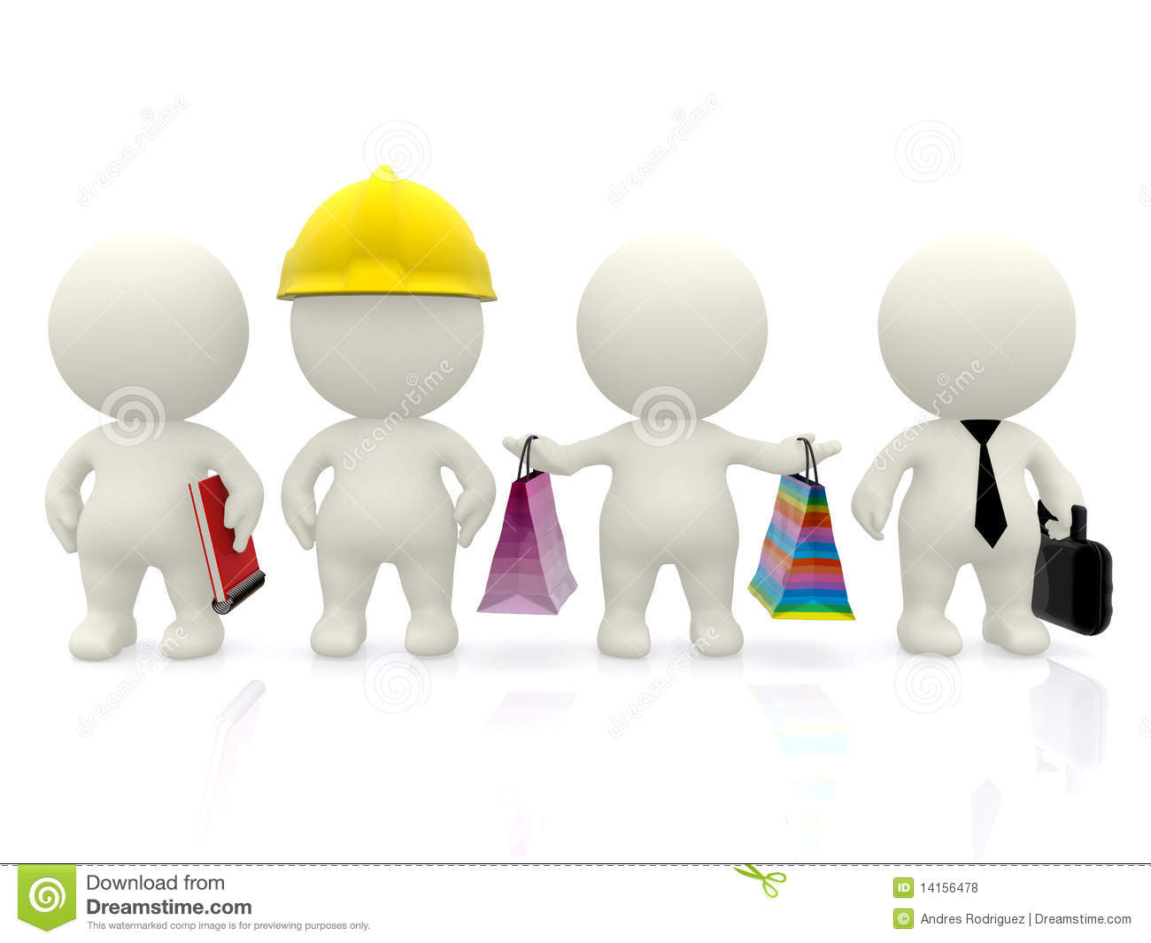 Professions And Occupations Stock Illustration Image