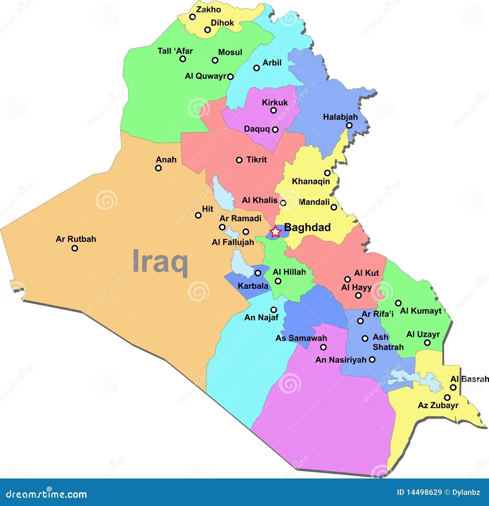 Programma Dell Iraq Illustrazione Vettoriale