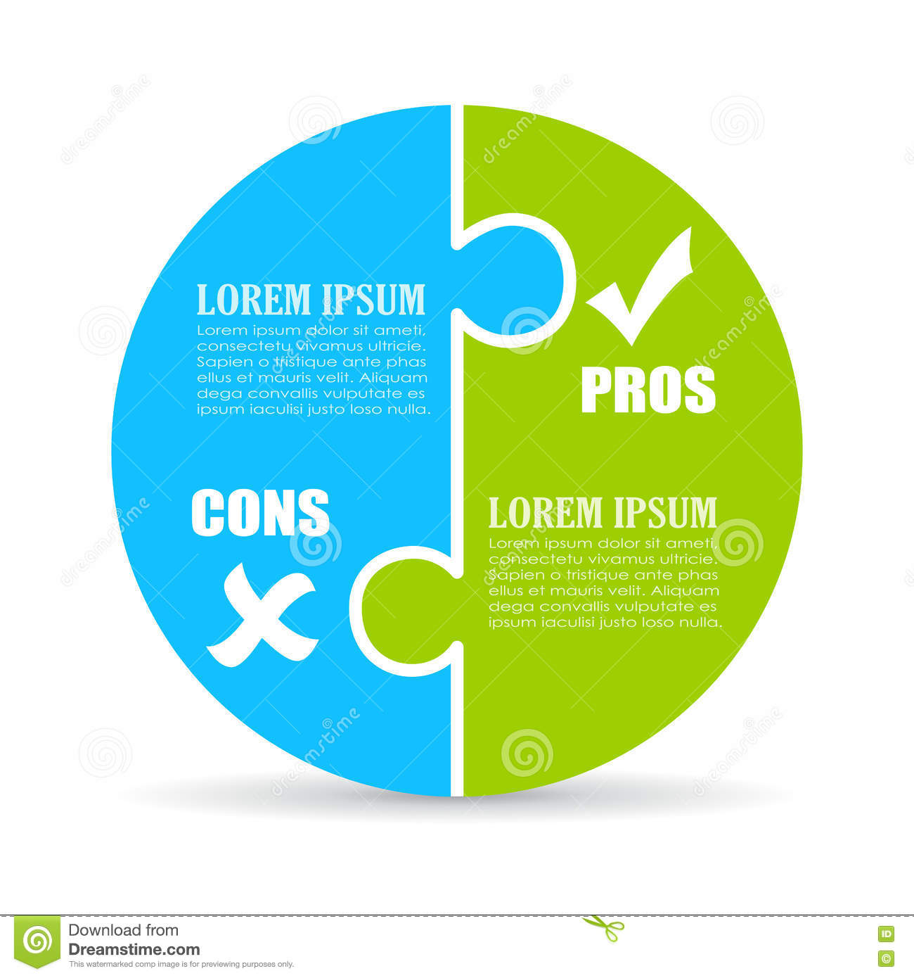 Pros And Cons Chart Stock Vector Illustration Of Debate