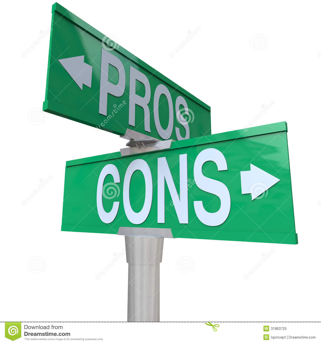 Pros And Cons Two Way Street Signs Comparing Options Stock