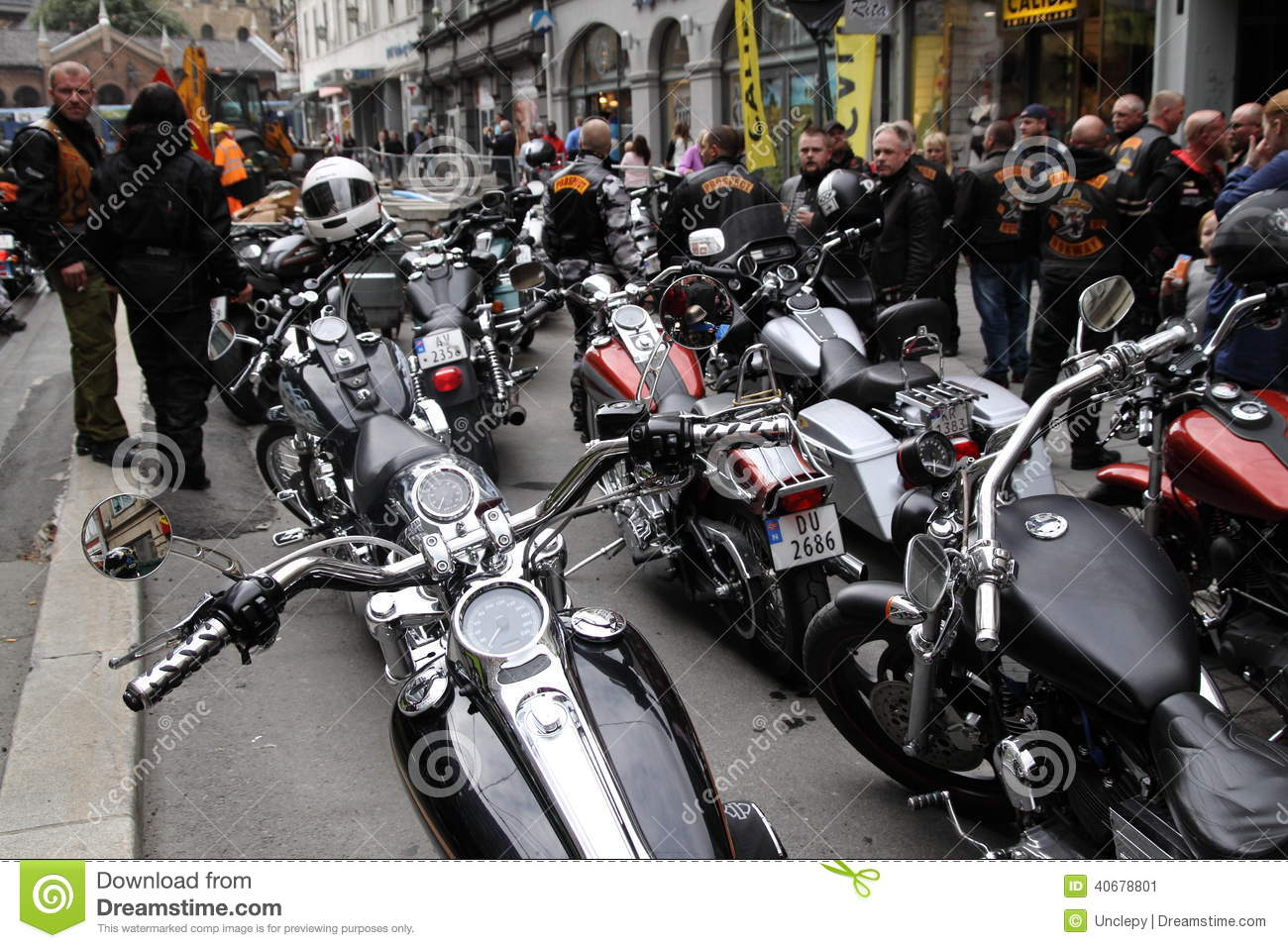Protest Of Motorcycle Clubs Oslo Editorial Photo Image
