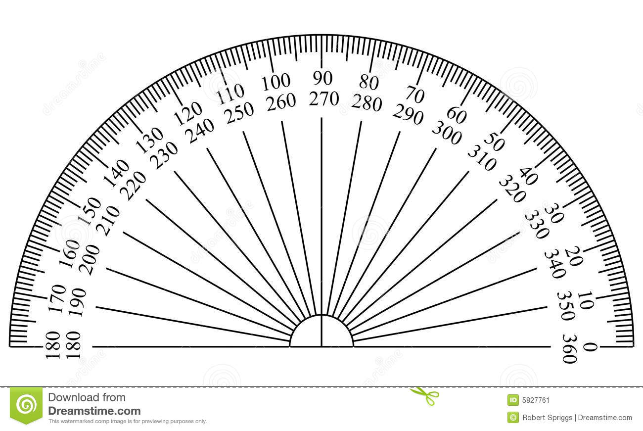 Protractor Template Stock Illustration Image Of Blueprint