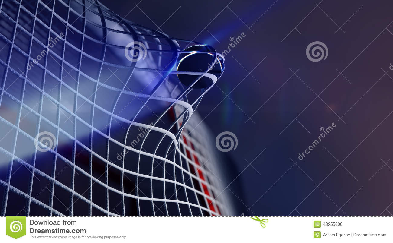 Puck In Net Of Ice Hockey Goal Stock Illustration