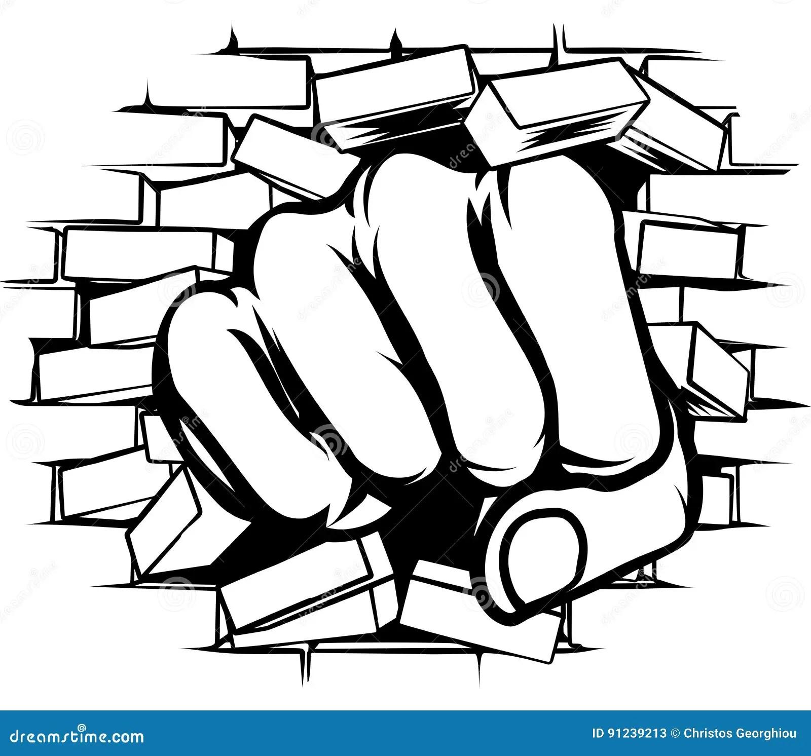 Fist Wall Stock Illustrations 735 Fist Wall Stock