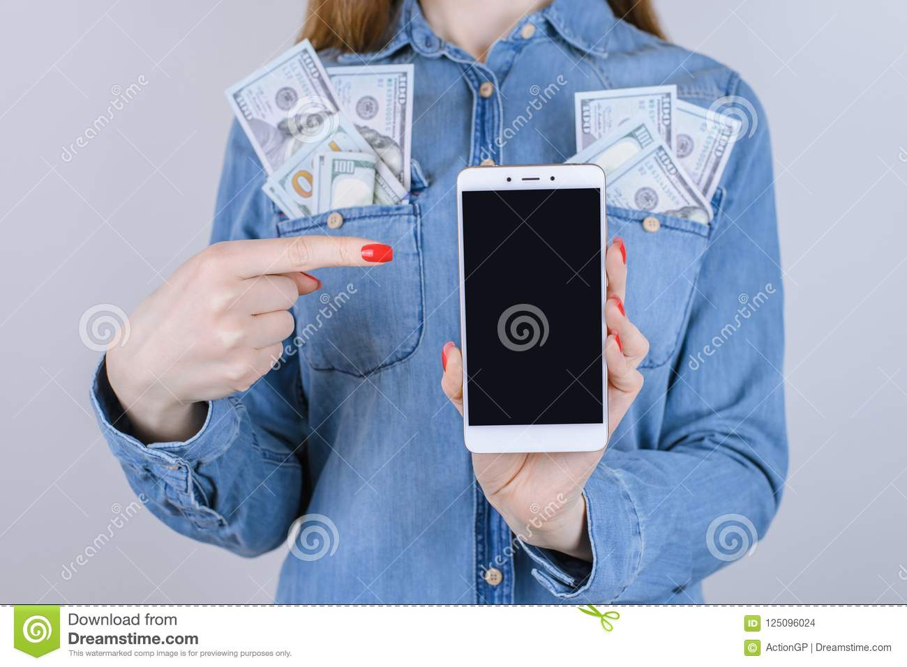 Purchase Site Wallet Bank Jeans Shirt Red Nails Tech