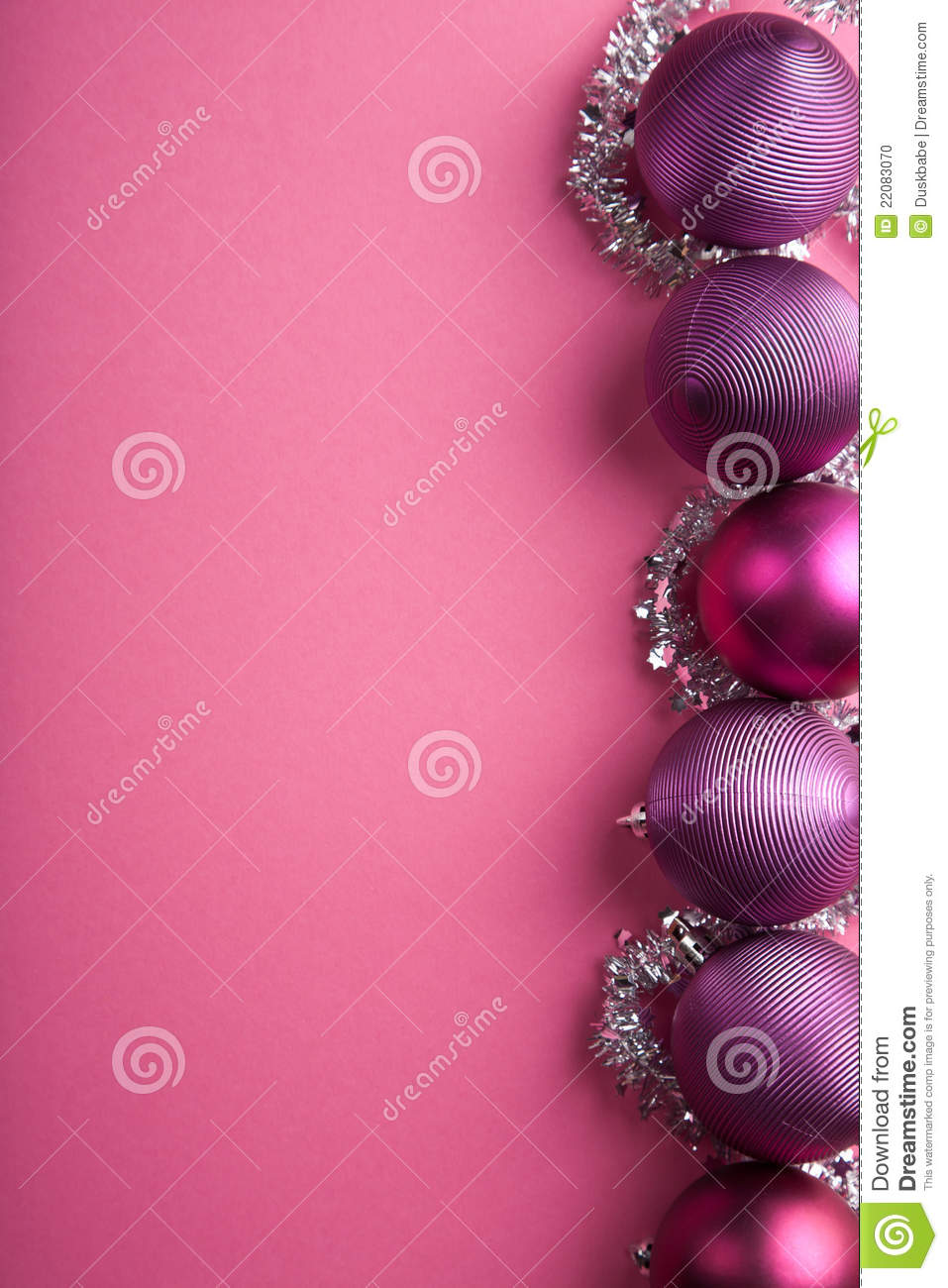 Purple Christmas Balls Border Stock Photo Image 22083070