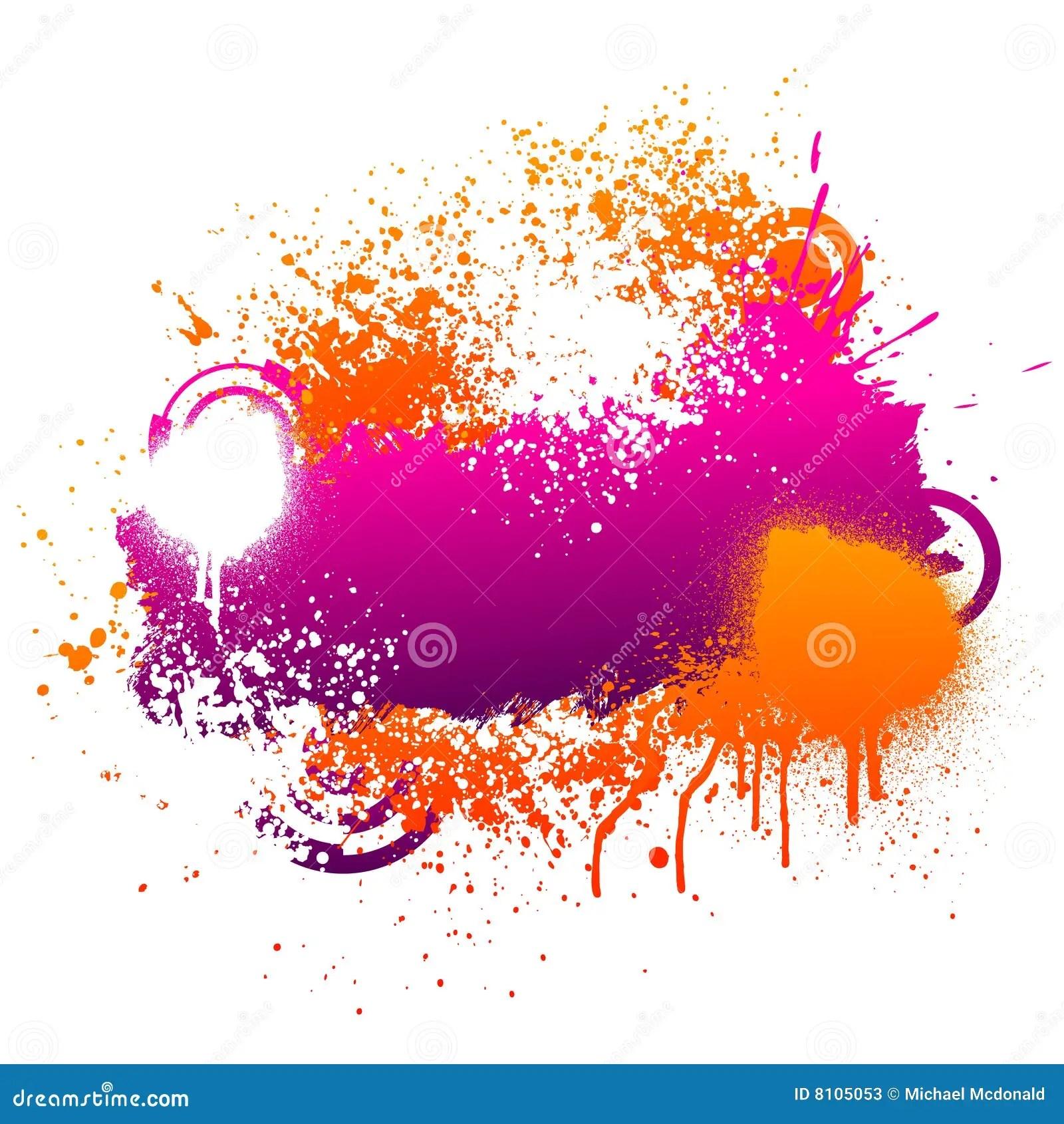 Purple And Orange Paint Splatter Stock Photos Image 8105053