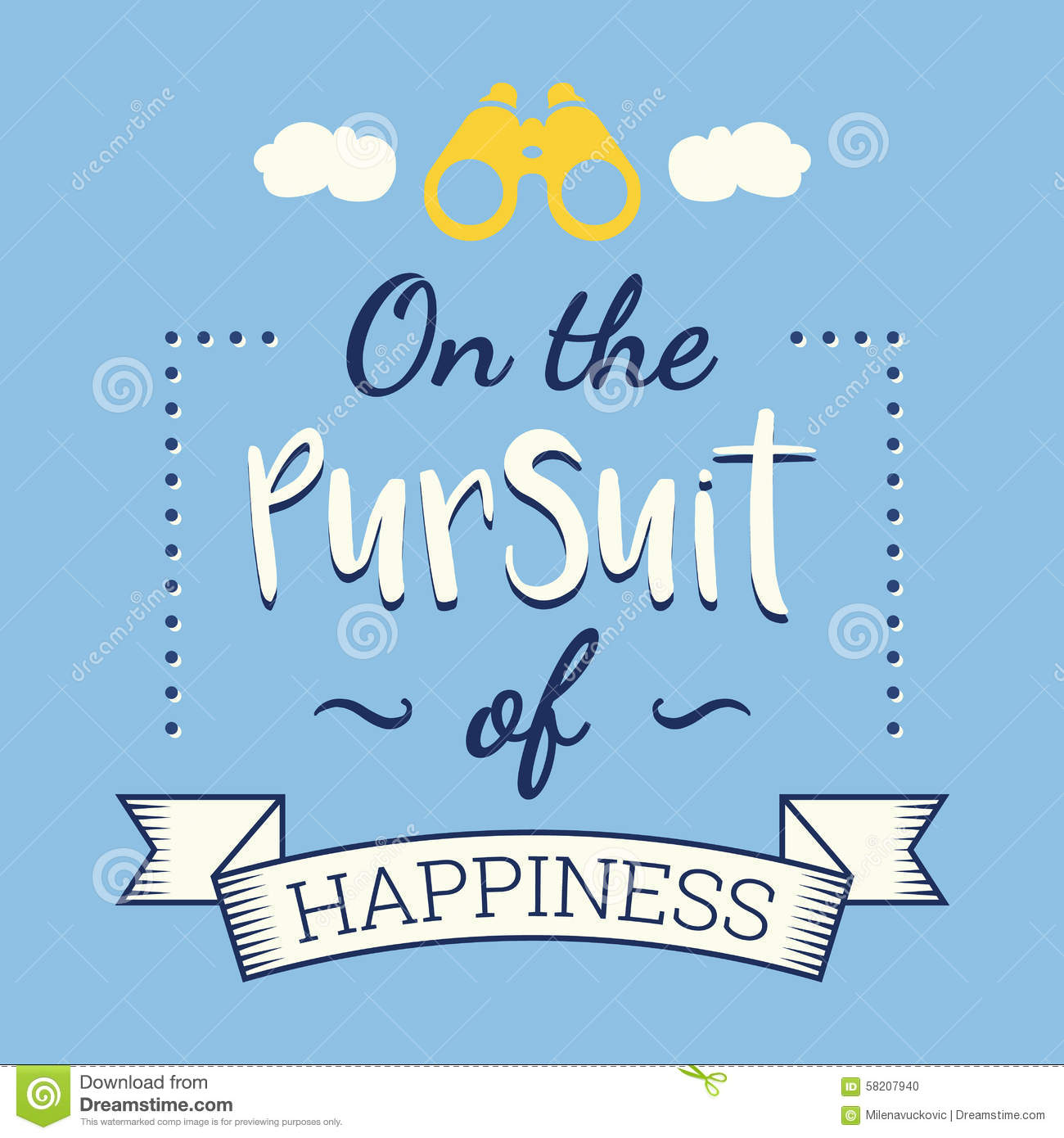 The Pursuit Of Happiness Stock Vector Illustration Of