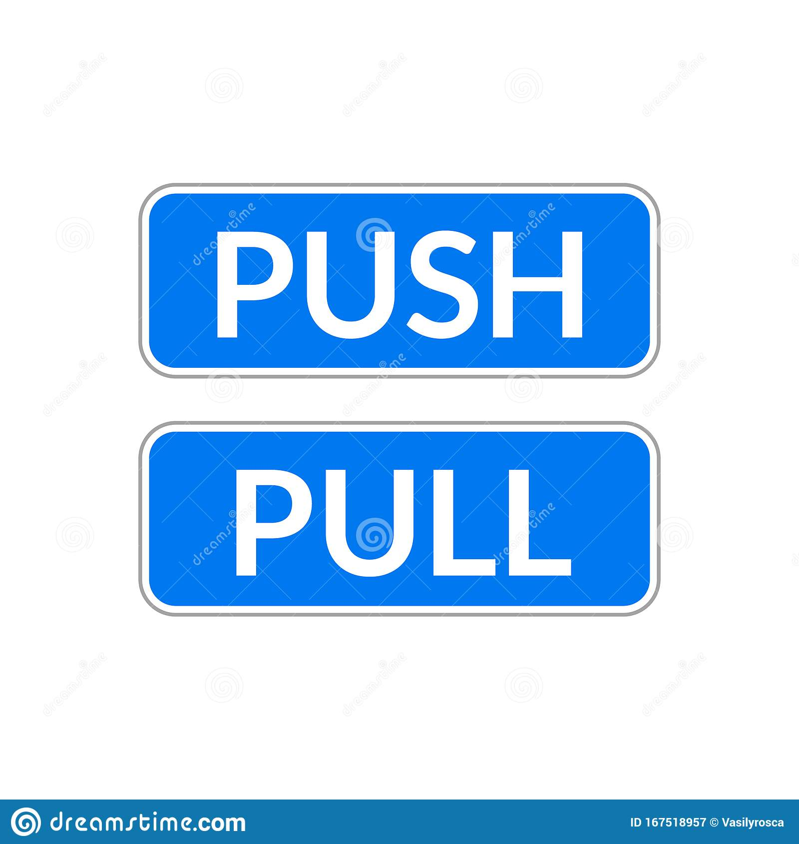 Push Pull Door Sign Vector Push And Pull Icon Sticker