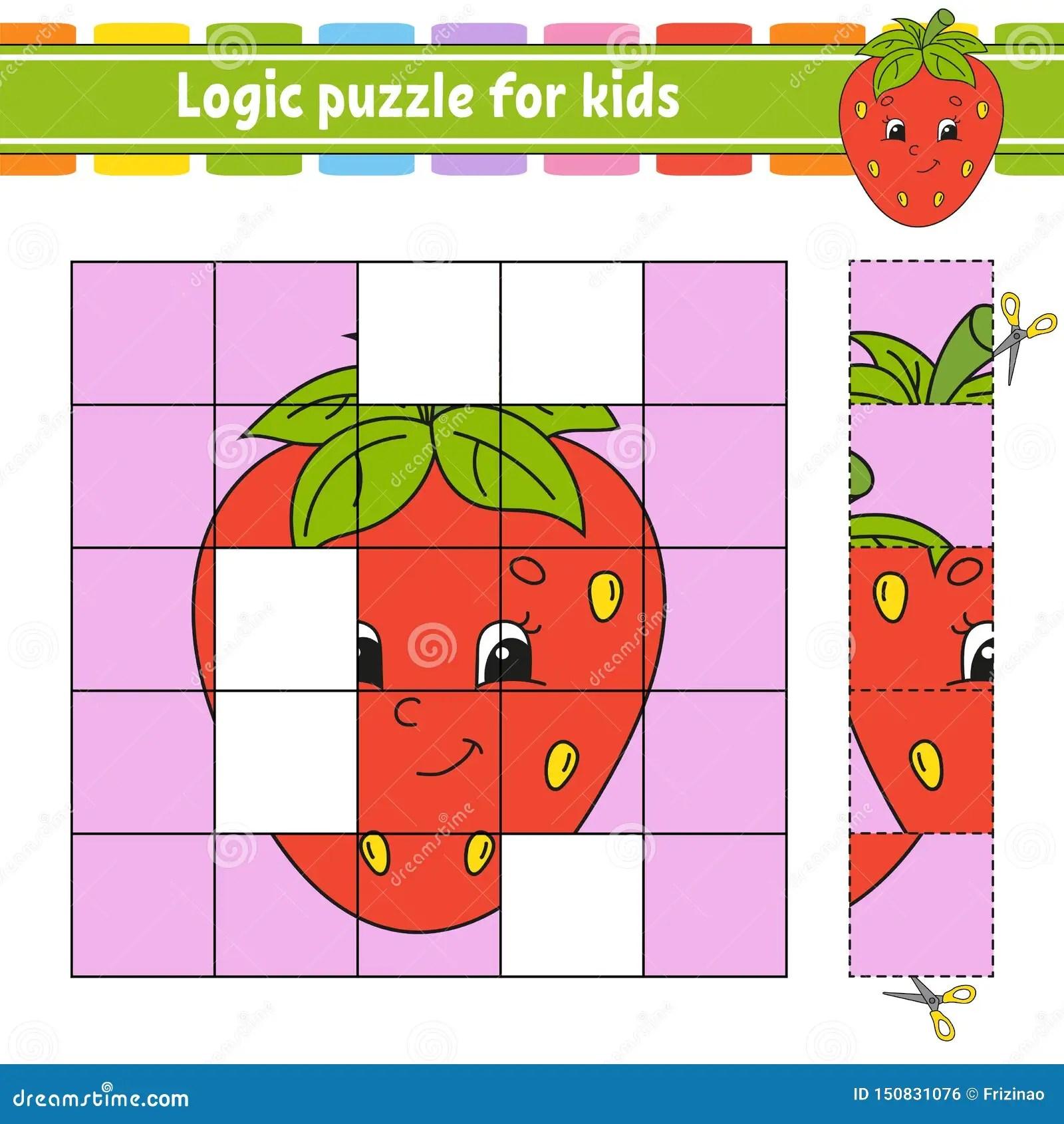 Puzzle Di Logica Per I Bambini Foglio Di Lavoro Di