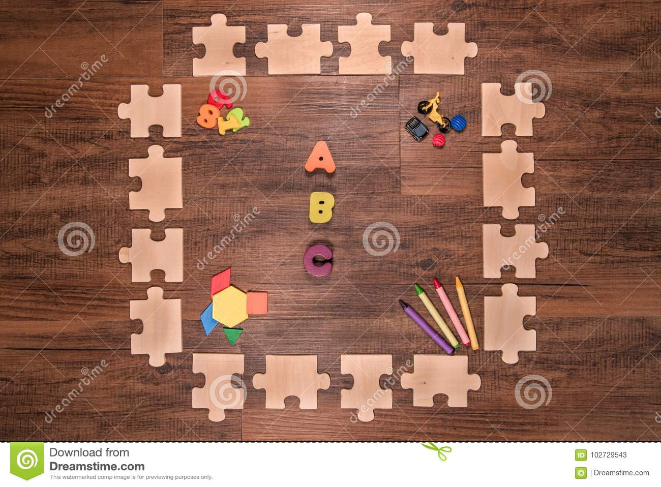 Puzzle Numbers Royalty Free Stock Image
