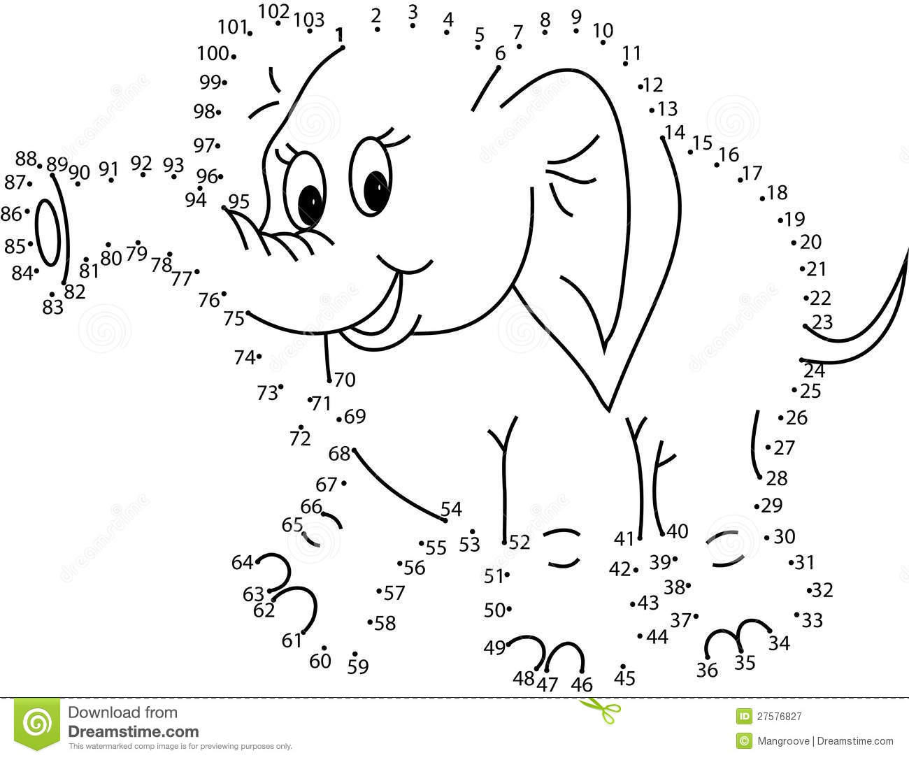 Puzzle Game For Kids Elephant Stock Illustration