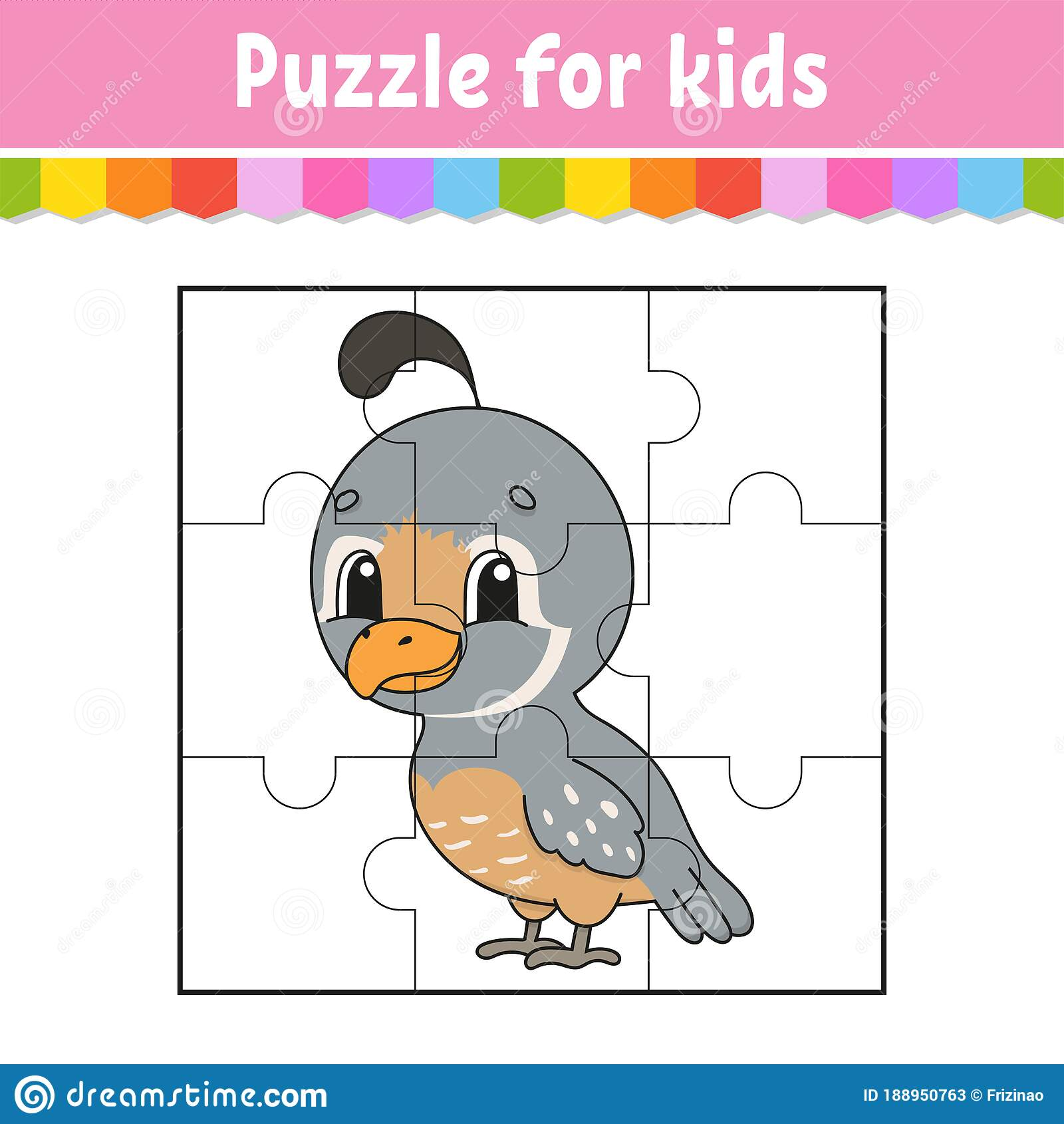 Puzzle Game For Kids Jigsaw Pieces Color Worksheet