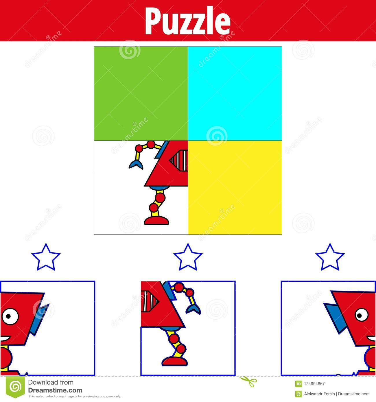 Puzzle Game Visual Educational Game For Children