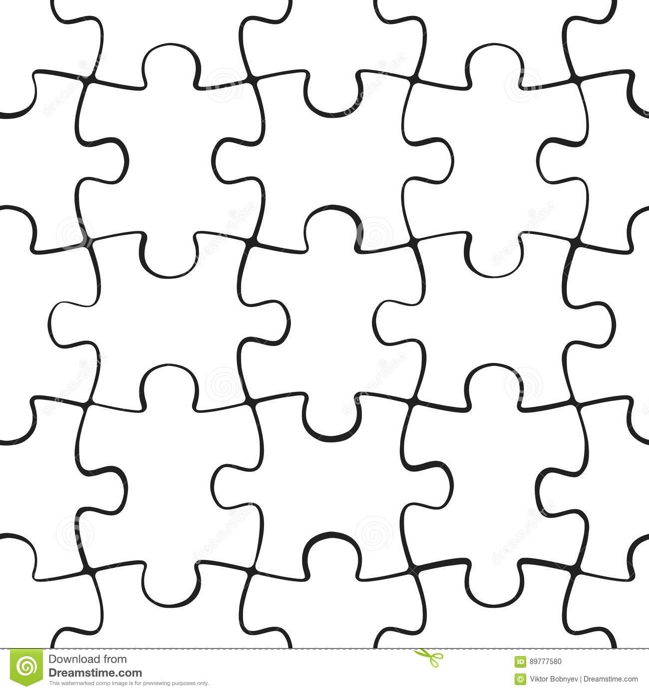 Puzzle Jigsaw Seamless Pattern Stock Vector
