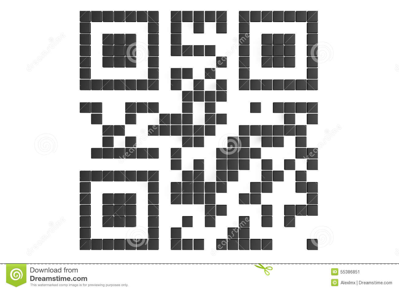 Qr Code Sign Stock Illustration
