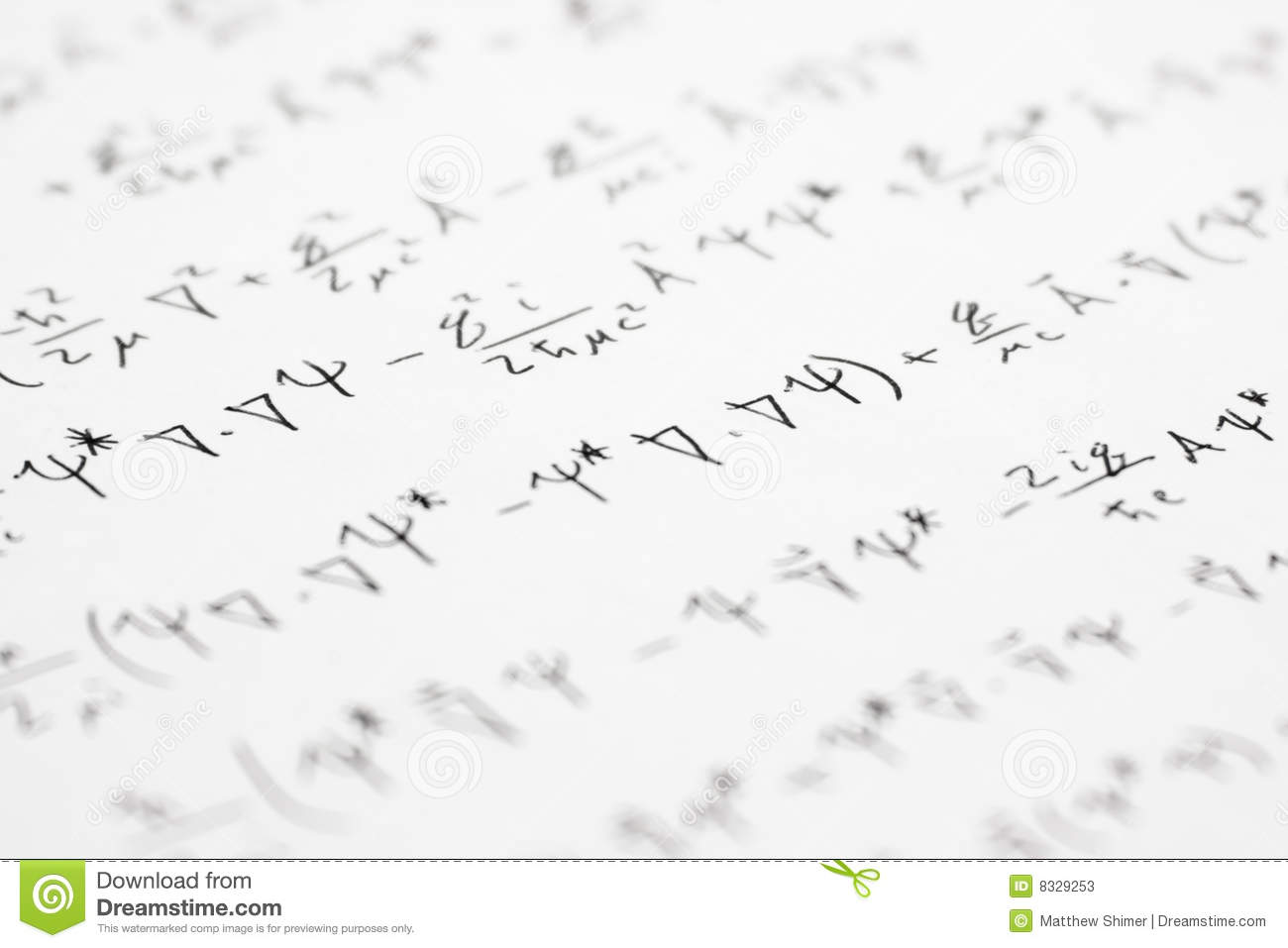 Quantum Equations 2 Stock Image Image Of Number Mass