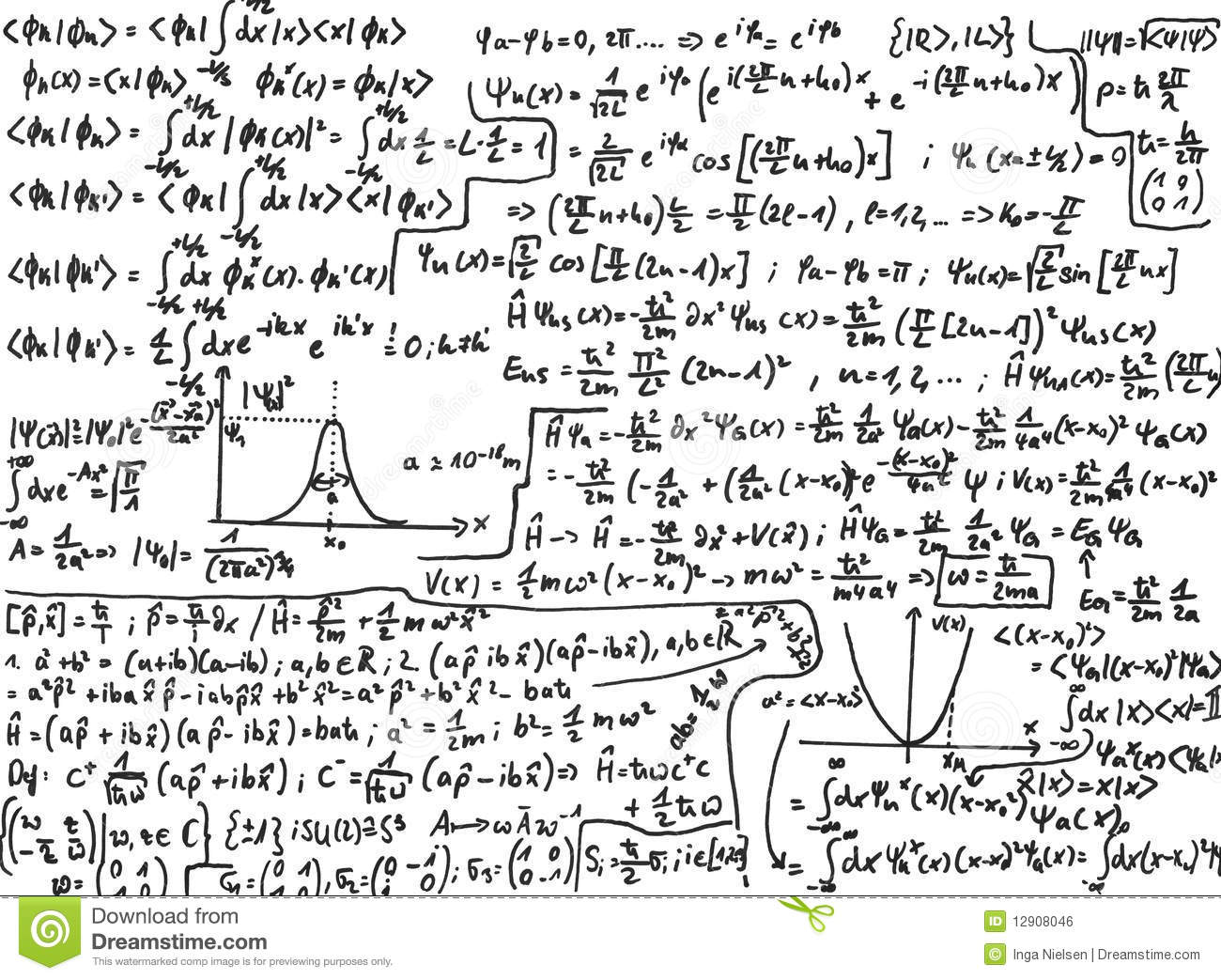 Quantum Mechanics Stock Photo Image Of Sketch