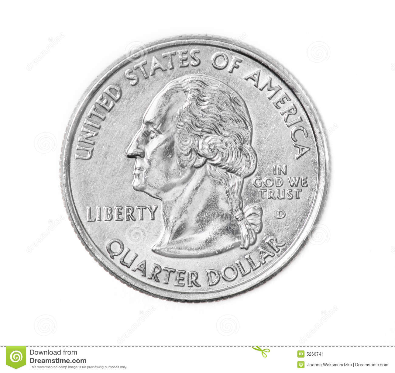 Quarter Coin Stock Image Image Of Round Background America