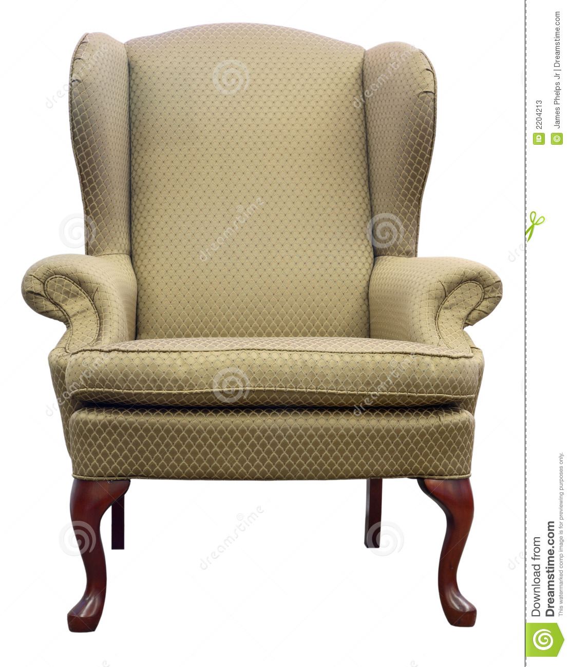 Queen Anne Wing Chair Stock Image Image Of Anne Design