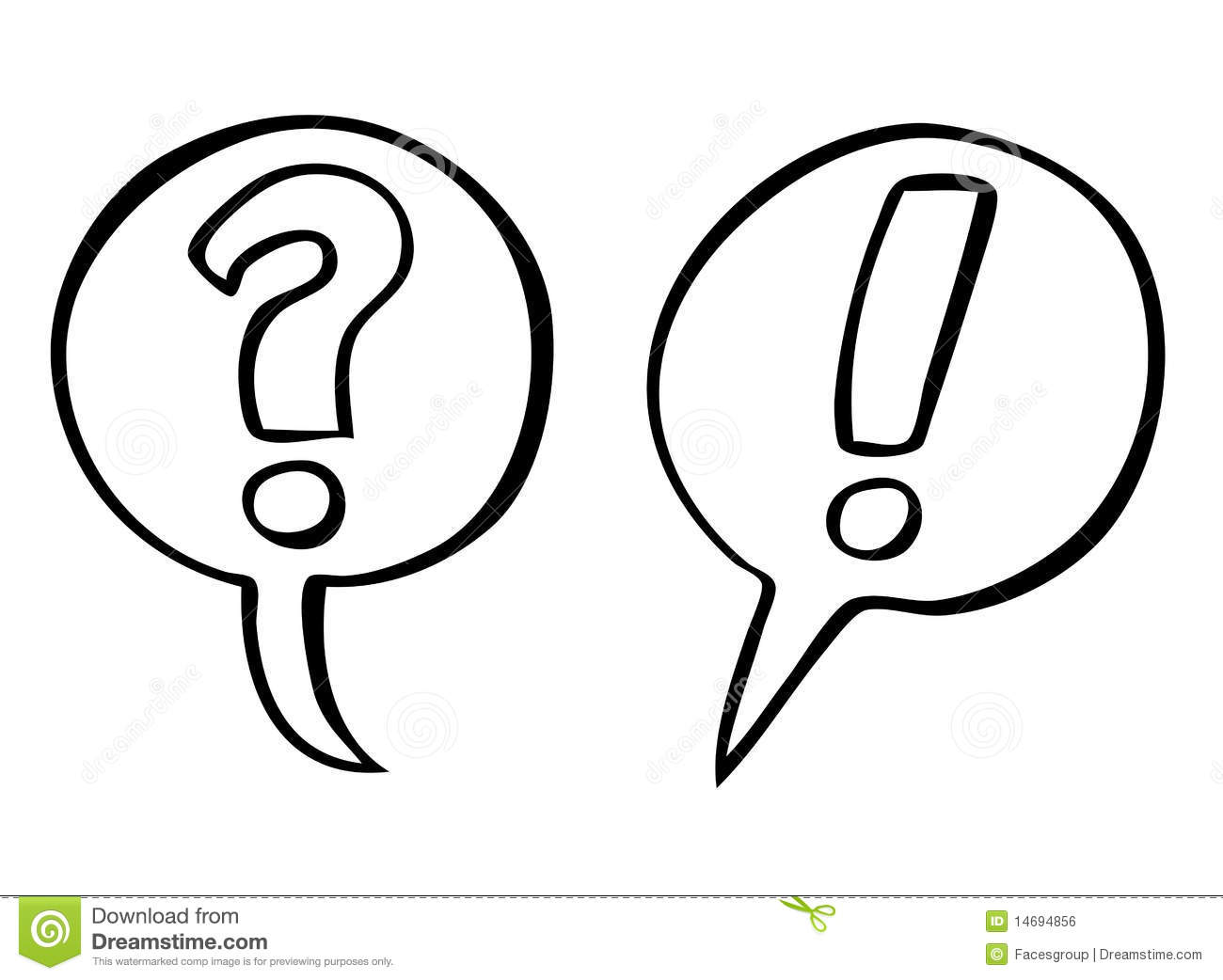 Question And Exclamation Marks Vector Stock Vector