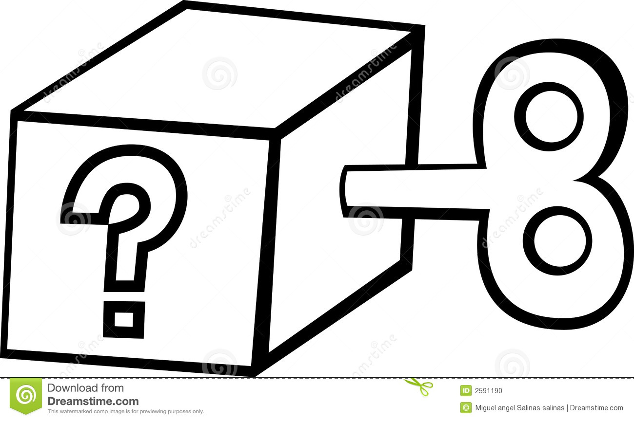 Question Mark Box Royalty Free Stock Photography