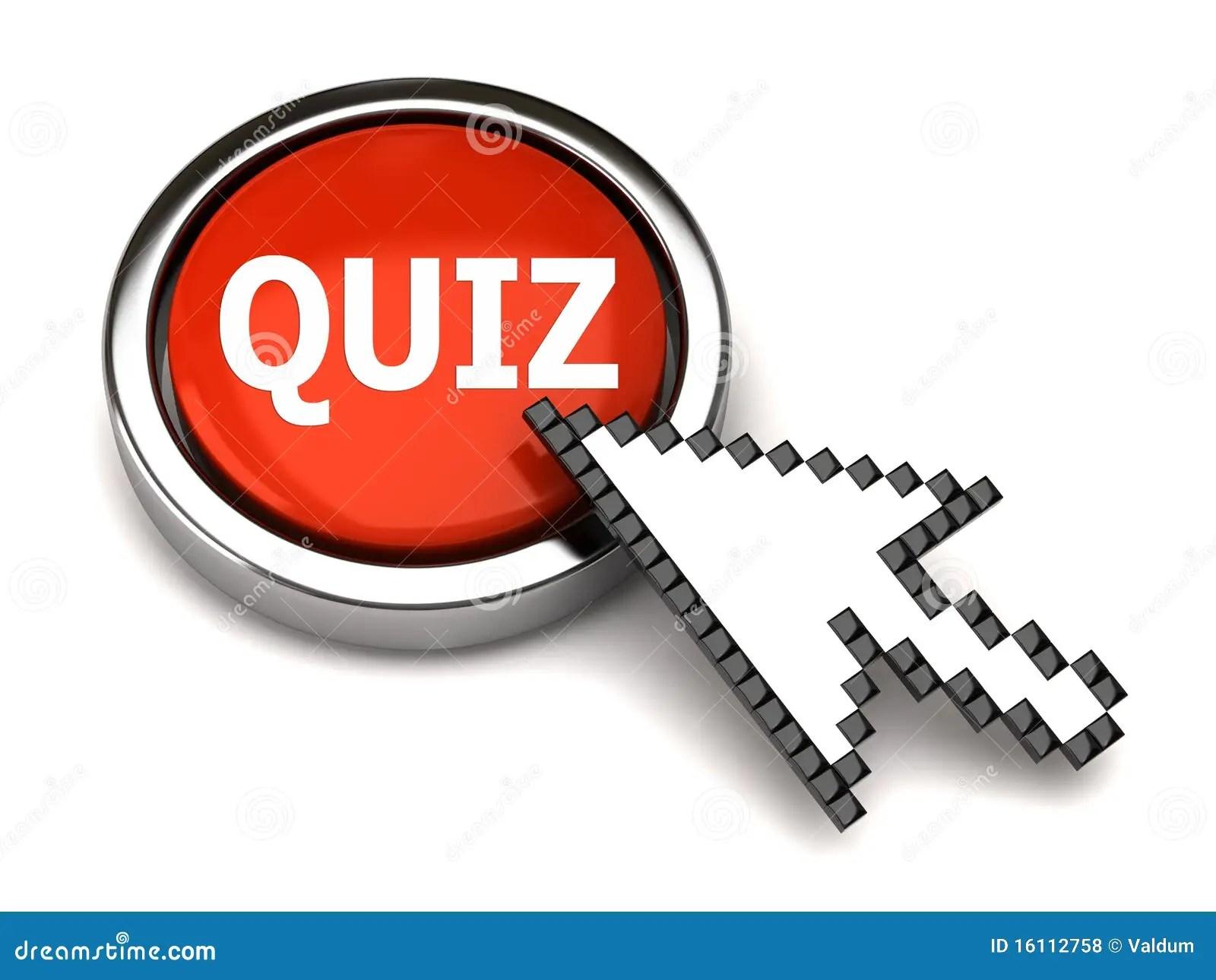 Quiz Button And Arrow Cursor Stock Illustration