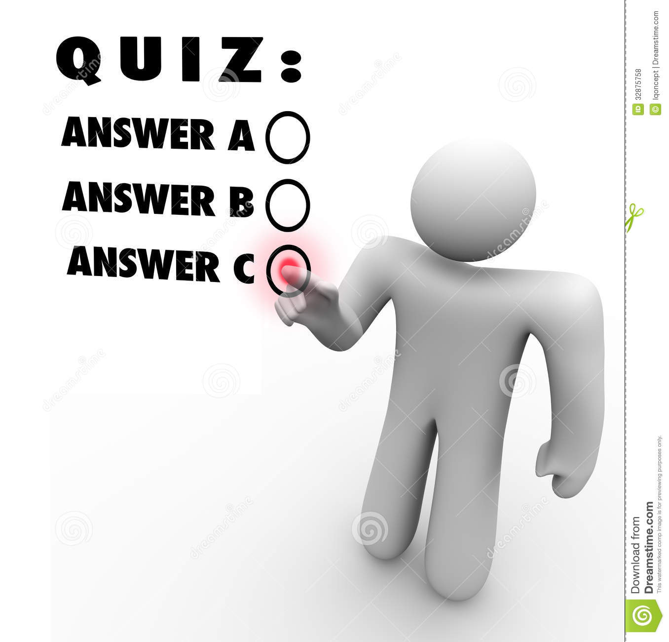 Quiz Multiple Choice Choosing Best Answer Test Royalty Free Stock Photos