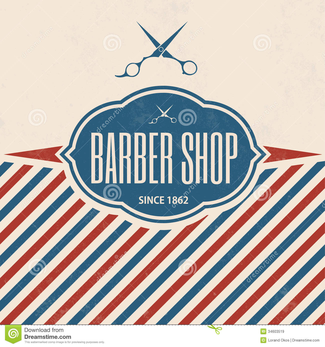Rtro Barber Shop Vintage Template