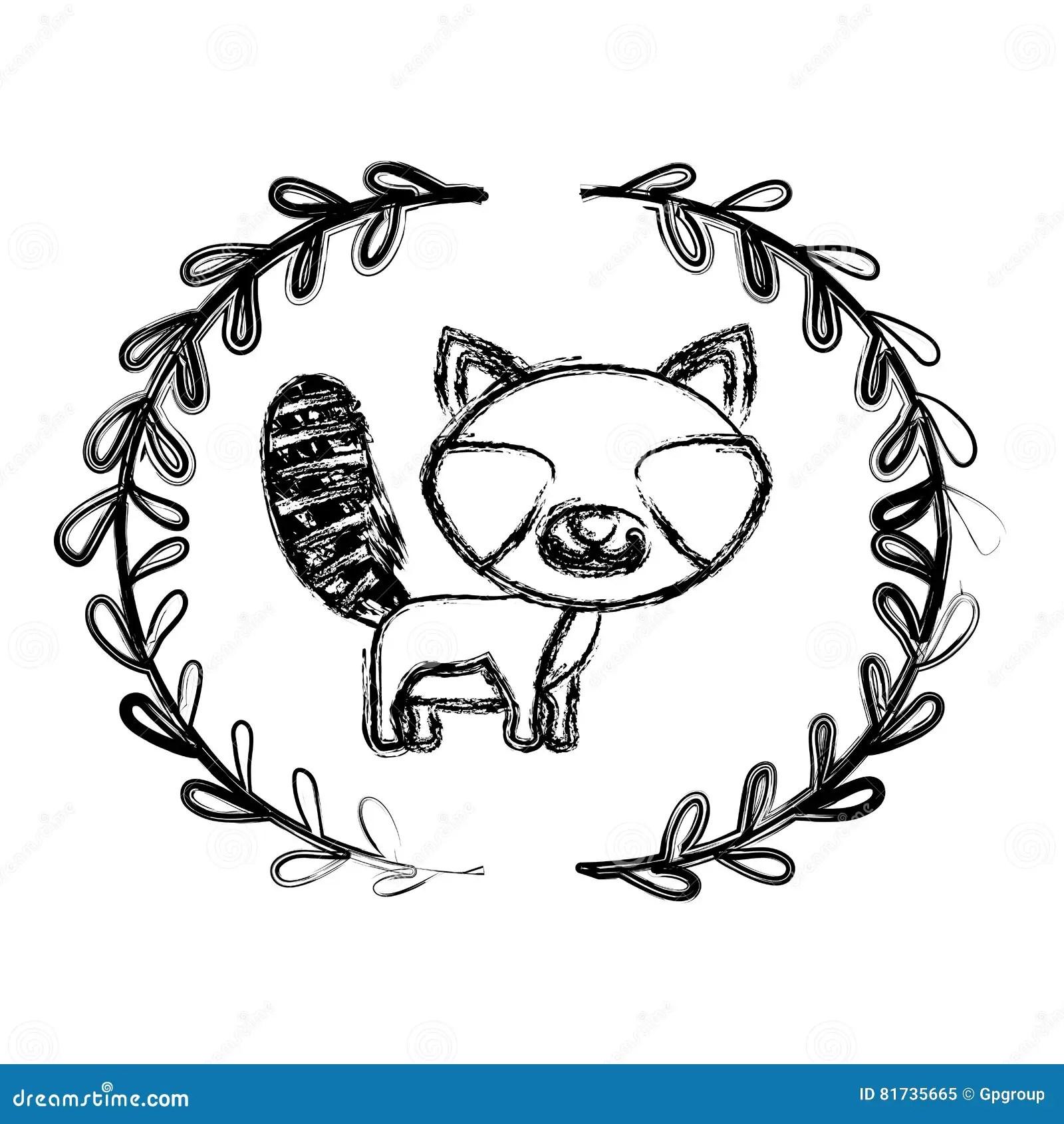 Raccoon Cartoon Design Stock Illustration