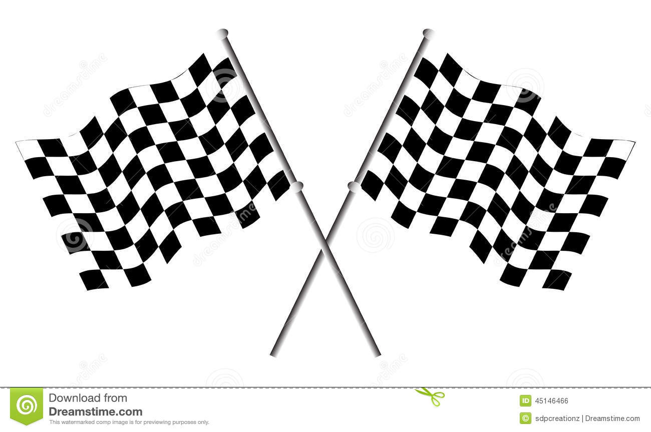 Race Flags Stock Vector
