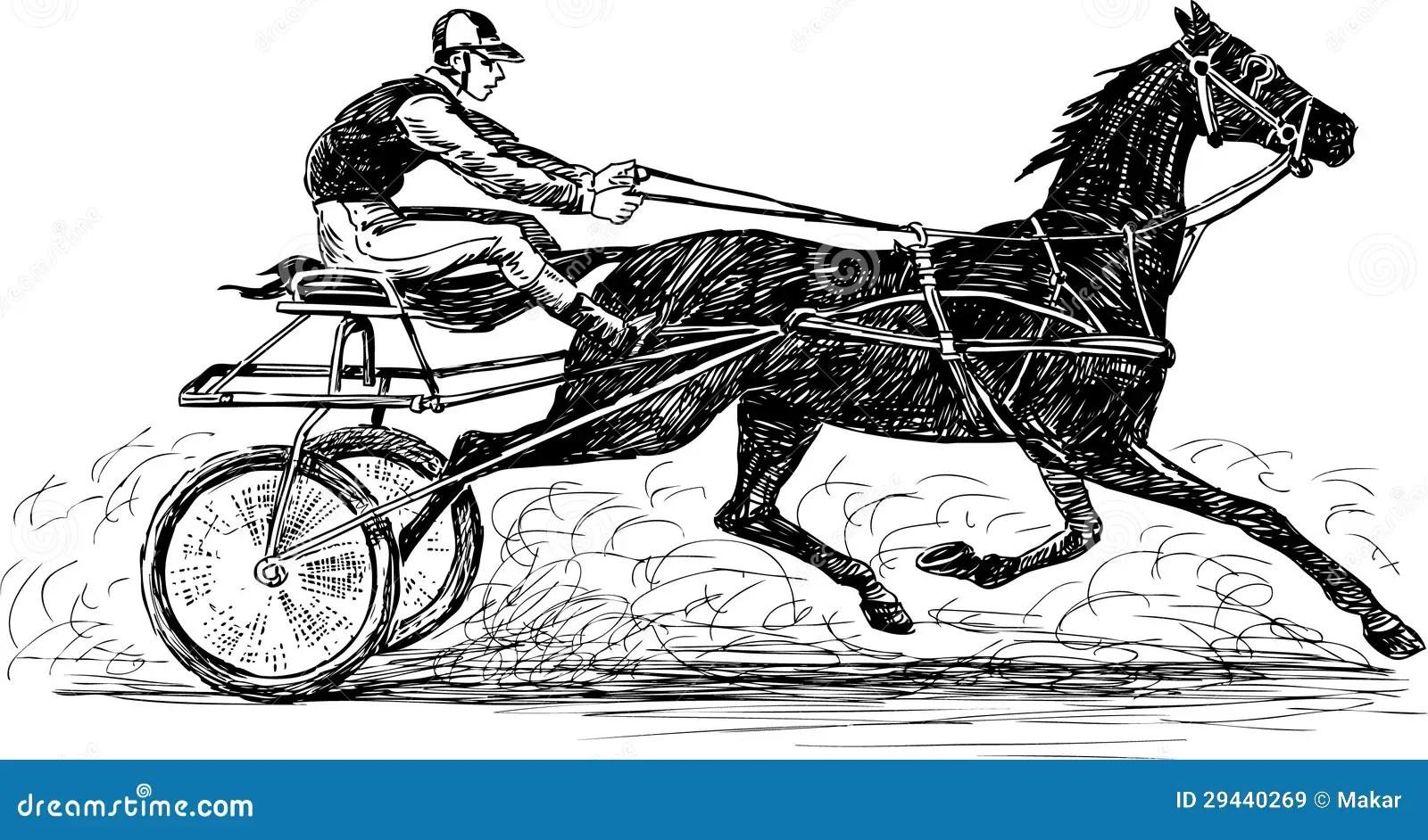 Races Stock Vector Illustration Of Horse Helmet Male