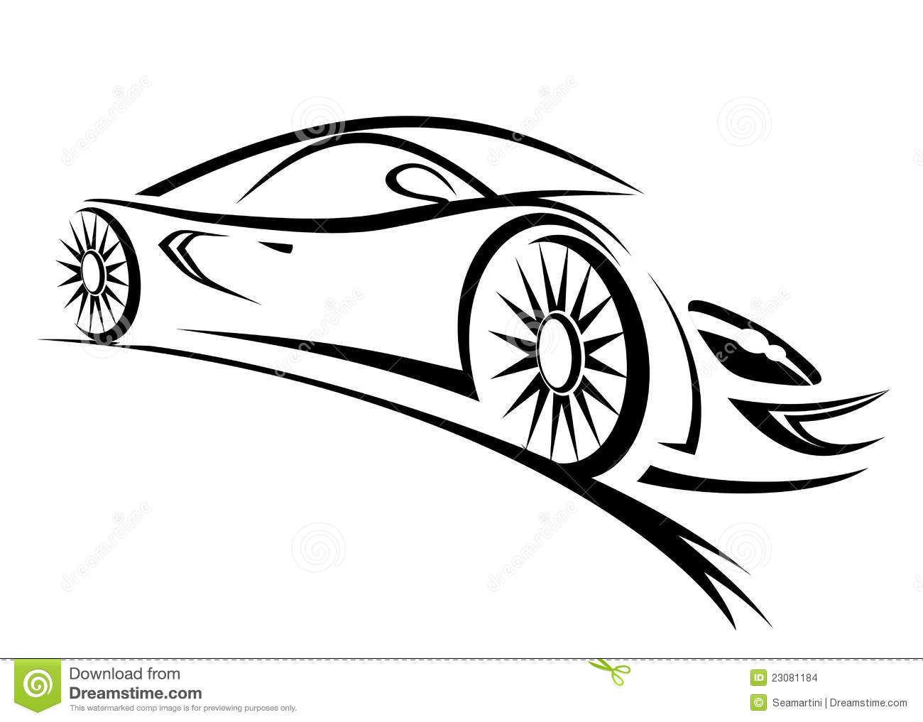Racing Car Stock Vector Illustration Of Graphic Finish