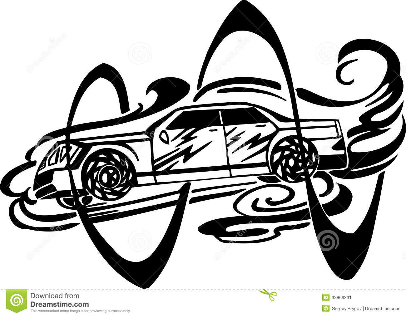 Racing Car Vector Illustration Stock Vector