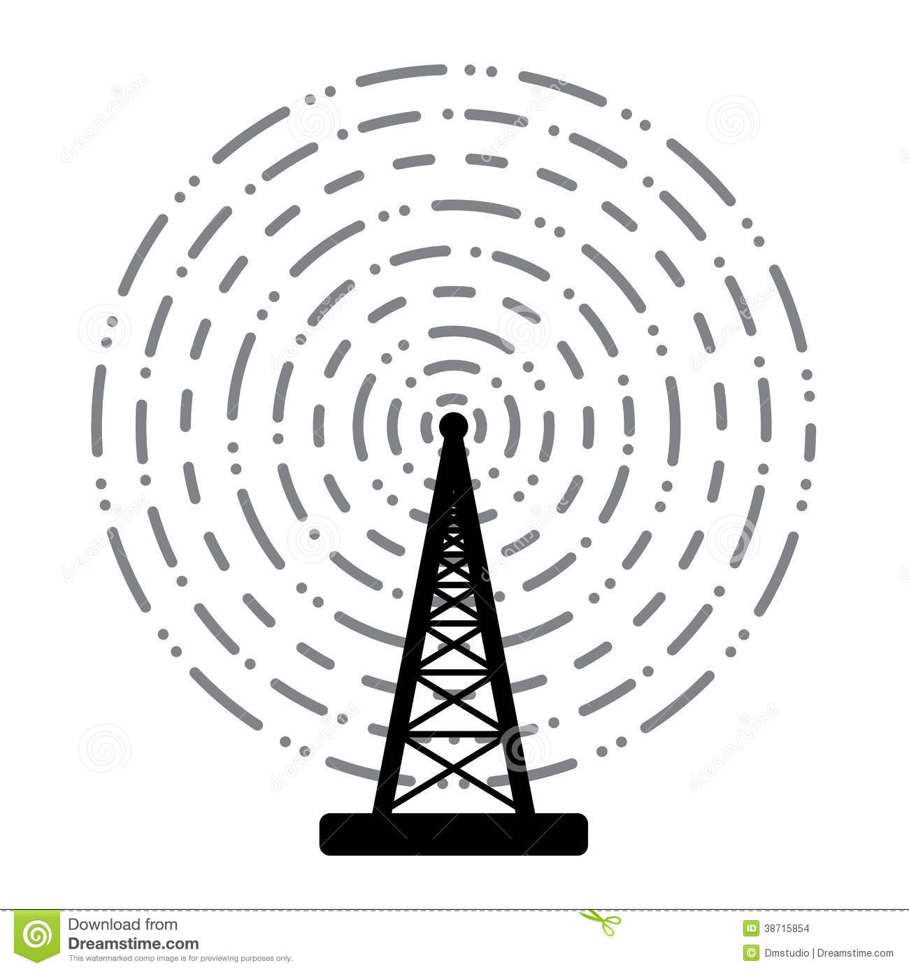 Vector Radio Tower Broadcast Stock Images