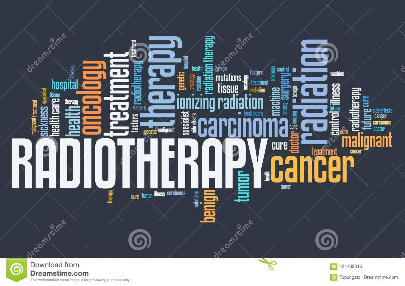Radiotherapy Of Cancer Concept Royalty Free Cartoon