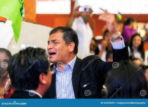 Rafael Correa, The President Of Ecuador Editorial Stock Image ...