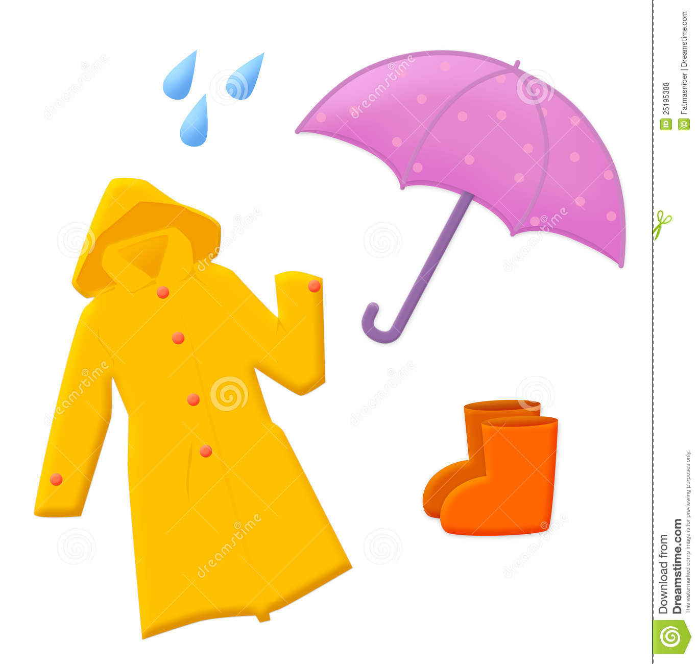 Rain Equipment Stock Illustration Illustration Of