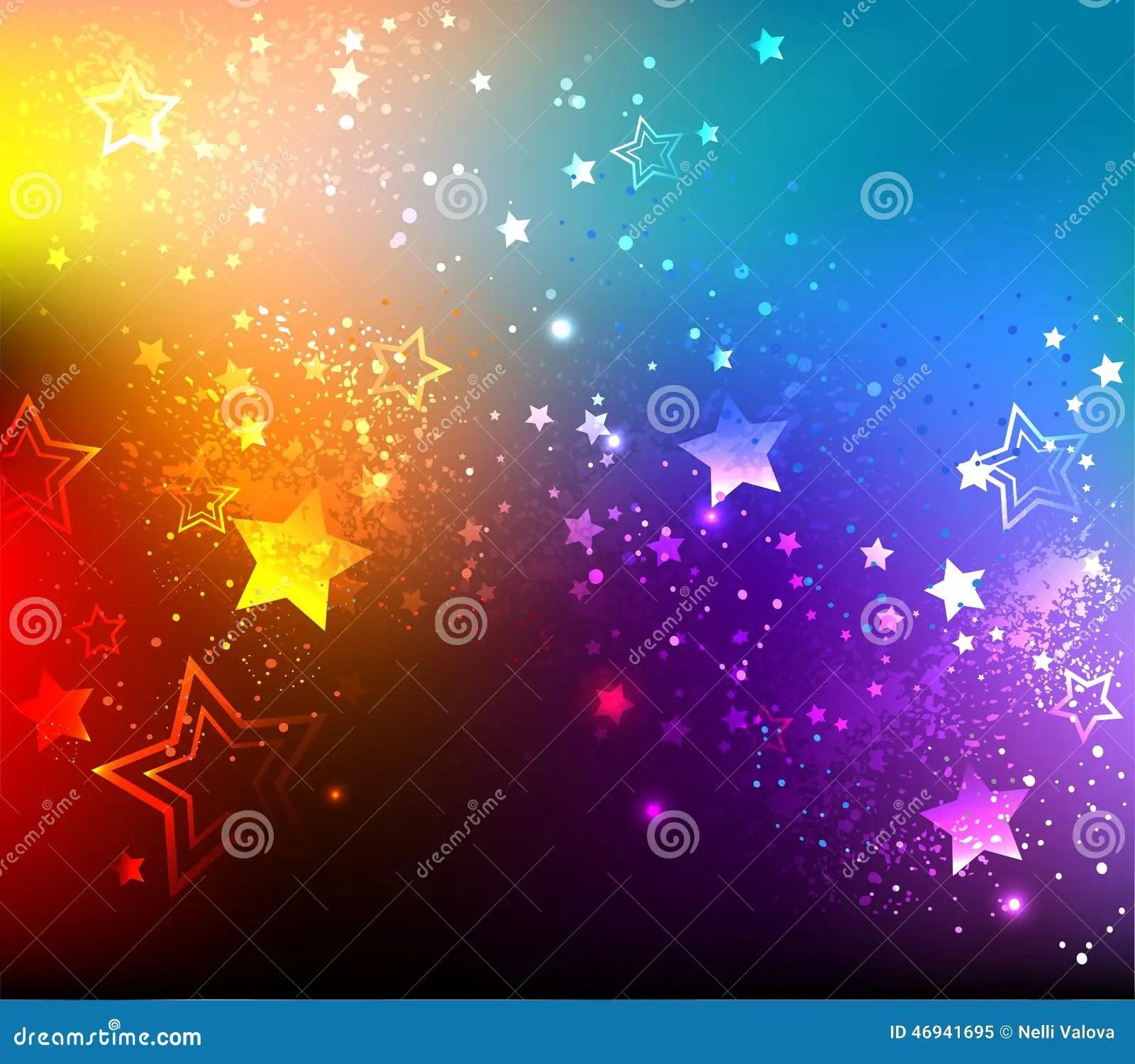 Rainbow Background With Stars Stock Photo Image 46941695
