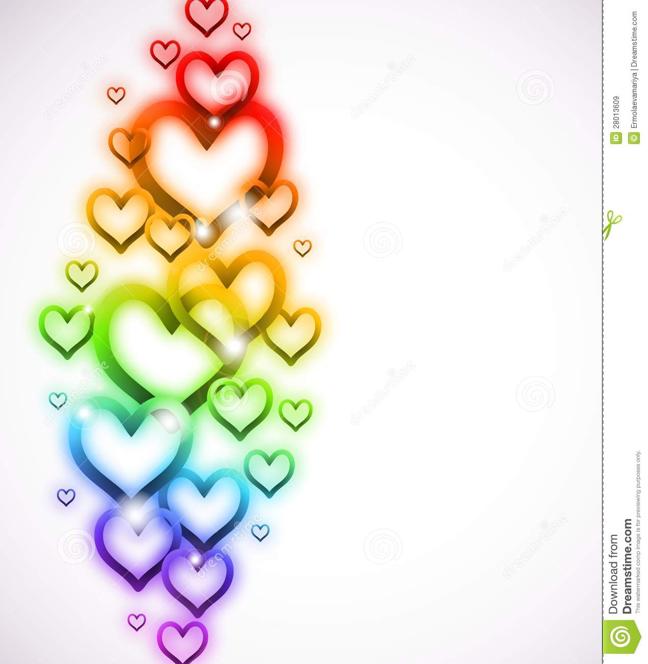 Rainbow Heart With Sparkles On White Vector Royalty Free