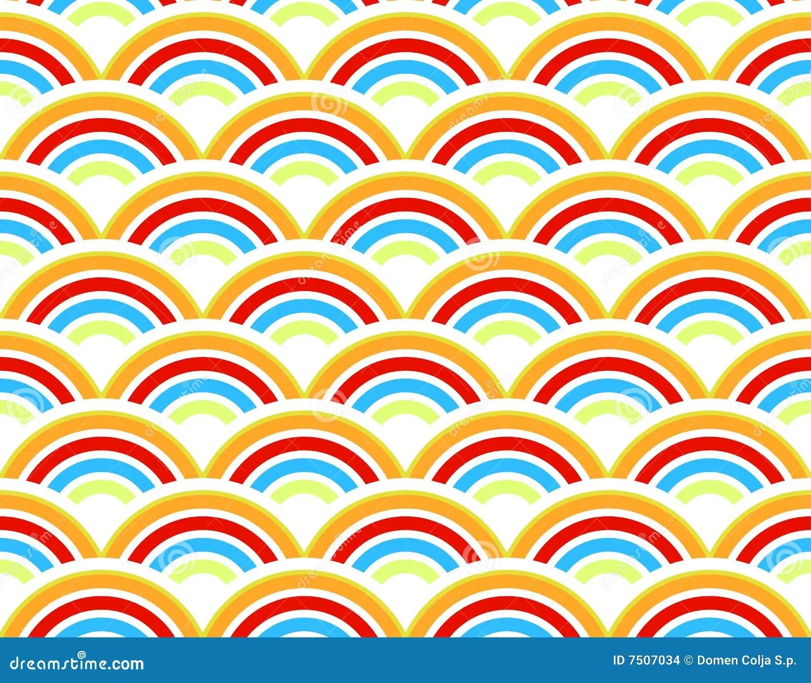 Rainbows Seamless Pattern Stock Vector Illustration Of