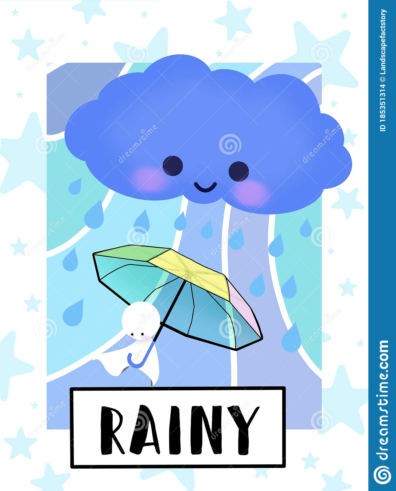 Rainy Weather Flashcard Collection For Preschool Kid