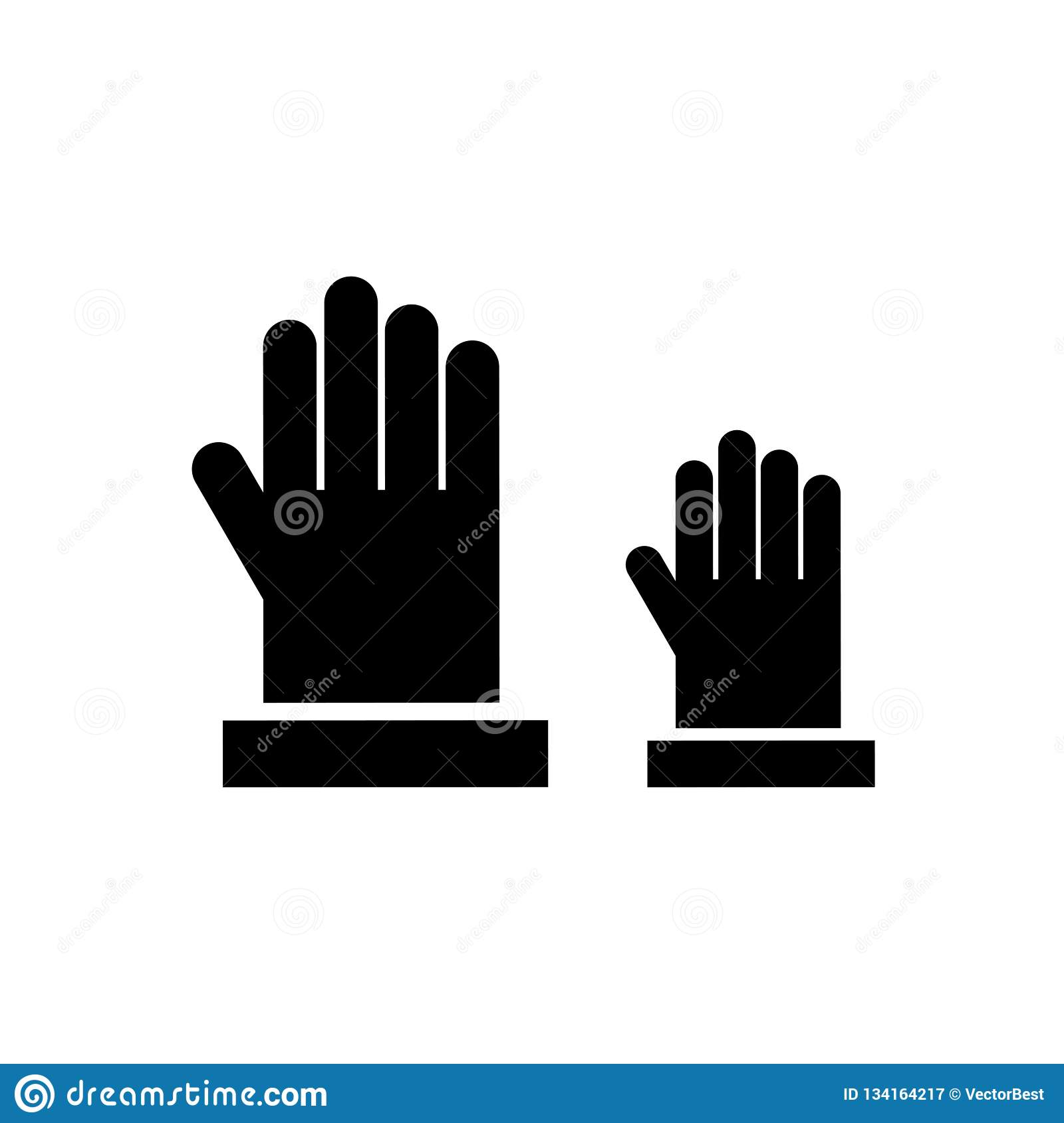 Raise Hand Icon Vector Sign And Symbol Isolated On White